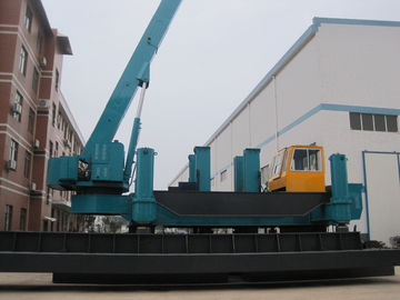 Vibration Free Hydraulic Static Pile Driver , Sheet Pile Driving Equipment