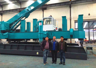 Roadside Hydraulic Static Pile Driver , Pile Pressing Machines Energy Saving
